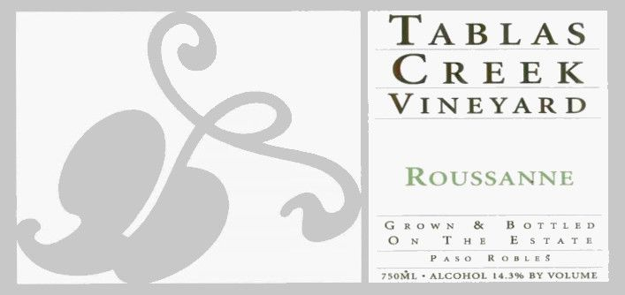Tablas Creek Roussanne 2007 Front Label