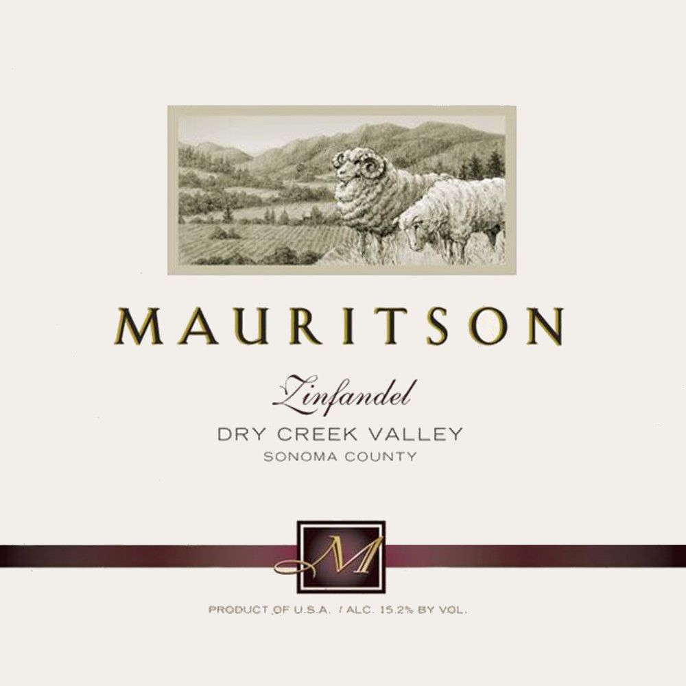 Mauritson Dry Creek Valley Zinfandel 2014 Front Label