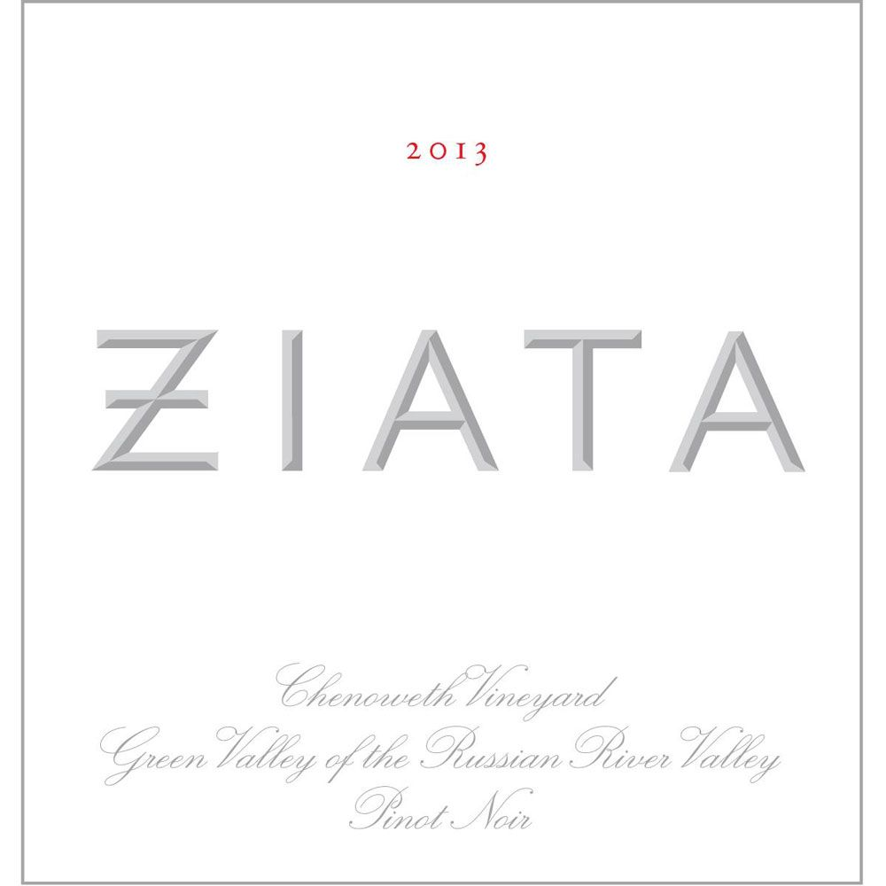 Ziata Green Valley Pinot Noir 2013 Front Label