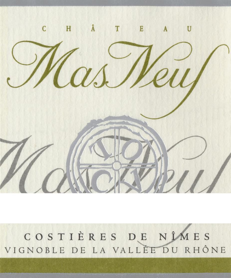 Chateau Mas Neuf Costieres de Nimes Tradition Blanc 2008 Front Label