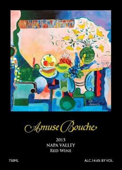 Amuse Bouche Proprietary Red 2015 Front Label