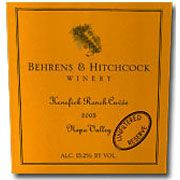 Behrens & Hitchcock Kenefick Ranch Cuvee (1.5L Magnum) 1999 Front Label