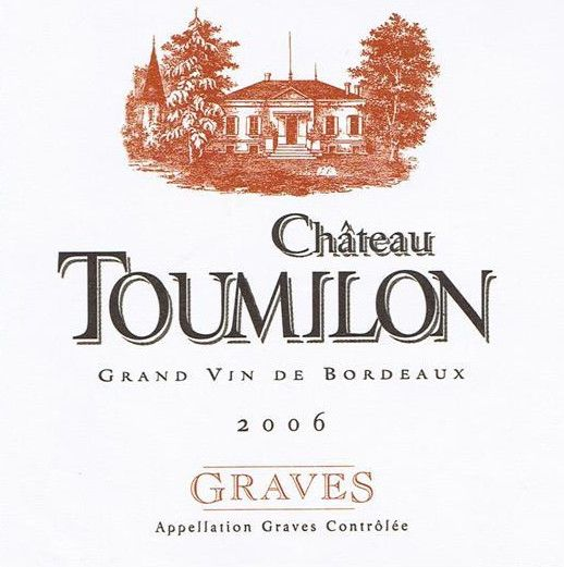 Chateau Toumilon Graves Blanc 2006 Front Label