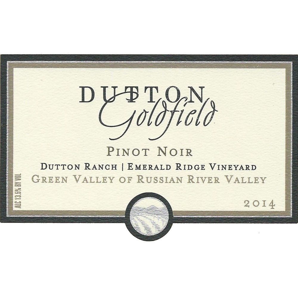 Dutton-Goldfield Emerald Ridge Vineyard Pinot Noir 2014 Front Label