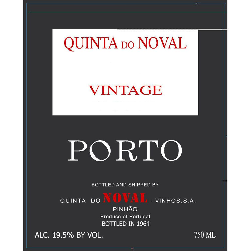 Quinta do Noval Vintage Port 1966 Front Label