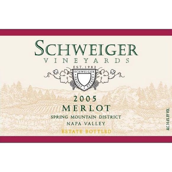 Schweiger Vineyards Merlot 2005 Front Label