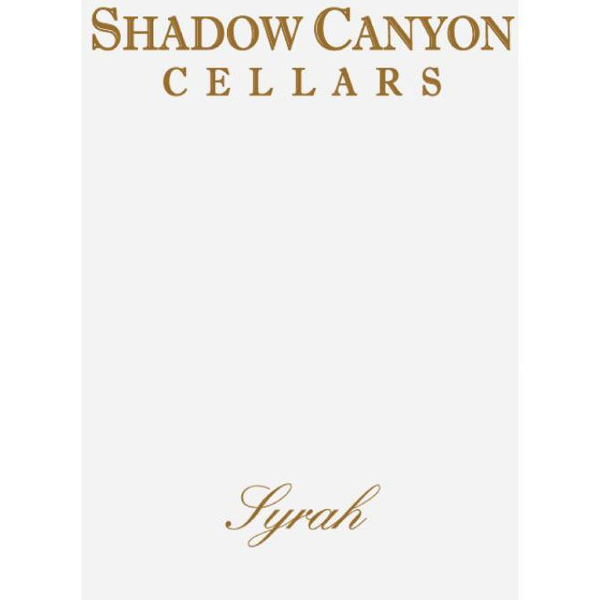 Shadow Canyon Cellars Shadow Canyon Vineyard Syrah 2003 Front Label