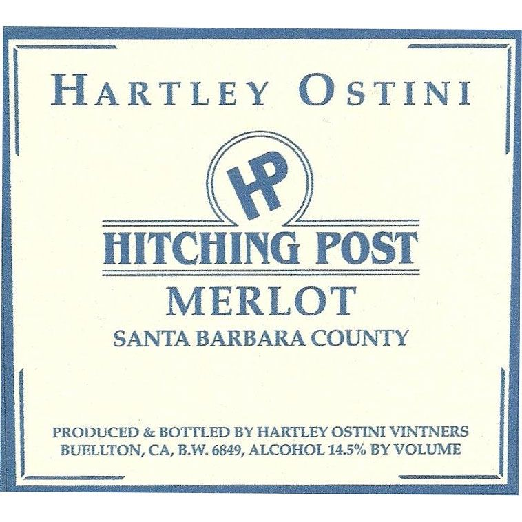 Hitching Post Hartley Ostini Merlot 2013 Front Label