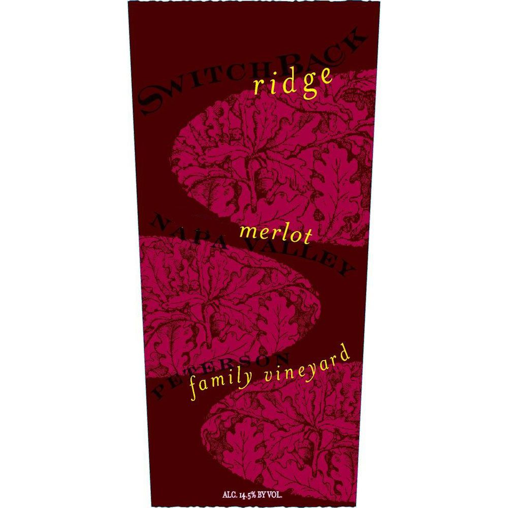 Switchback Ridge Peterson Family Vineyard Merlot 2002 Front Label