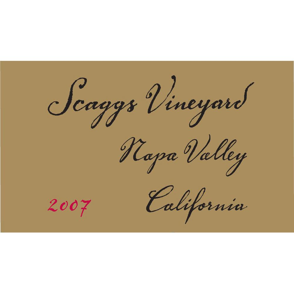 Scaggs Vineyard Montage 2007 Front Label