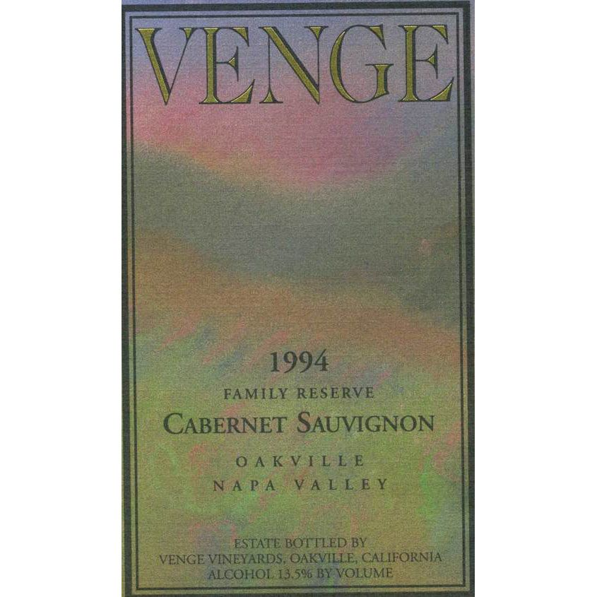 Venge Vineyards Family Reserve Cabernet Sauvignon 1994 Front Label