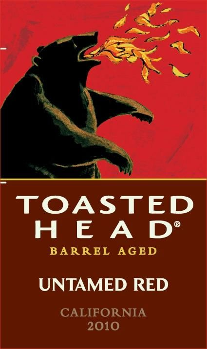 Toasted Head Untamed Red 2010 Front Label