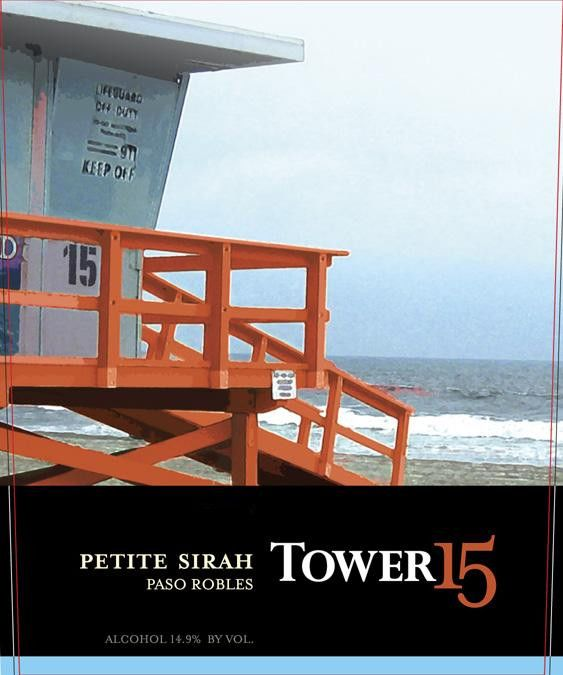Tower 15 Sirah 2011 Front Label