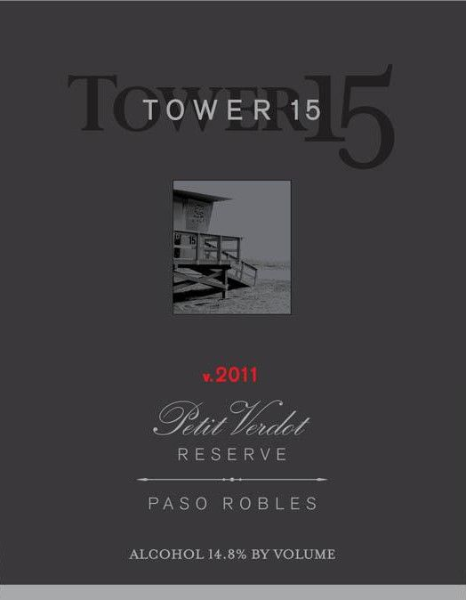 Tower 15 Reserve Petit Verdot 2011 Front Label