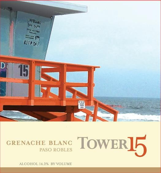 Tower 15 Grenache Blanc 2012 Front Label