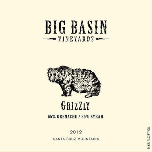Big Basin Grizzly Red Blend 2012 Front Label