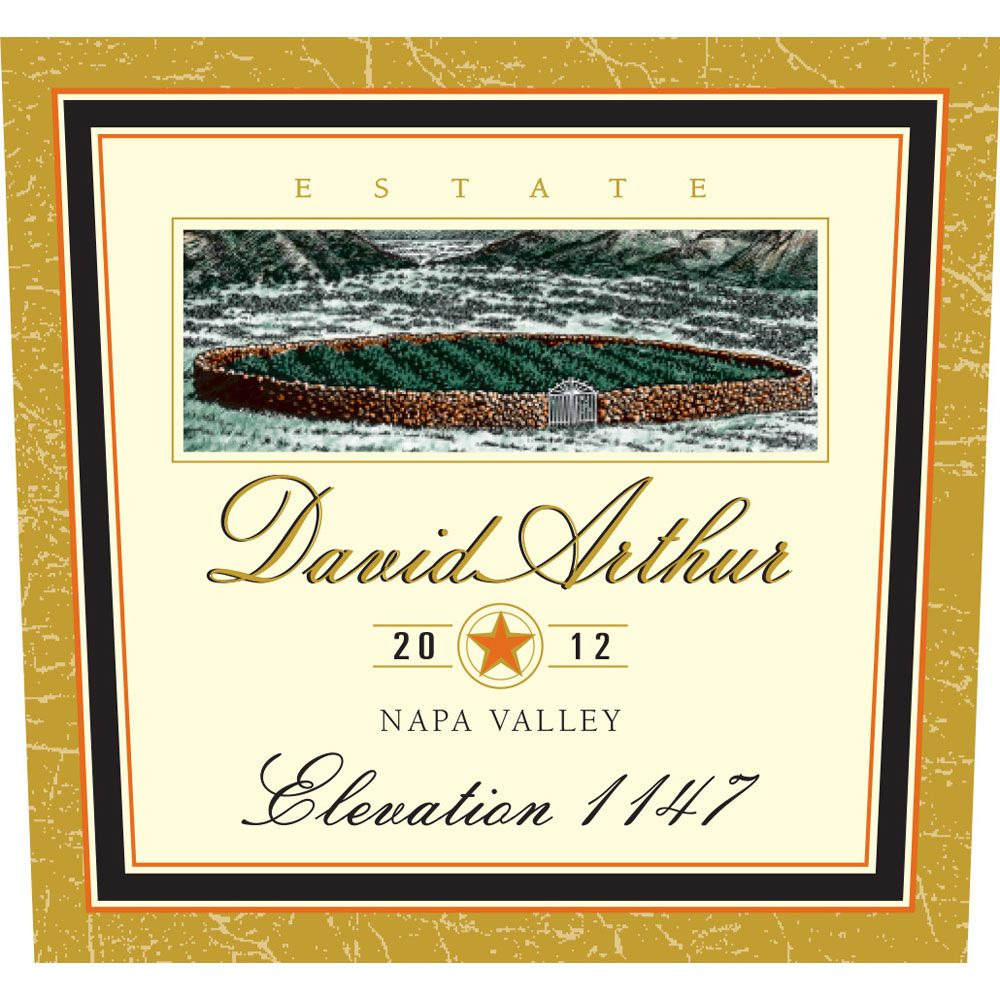 David Arthur Elevation 1147 Estate Cabernet Sauvignon 2012 Front Label
