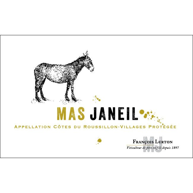 Mas Janeil Cotes du Roussillon Villages 2012 Front Label