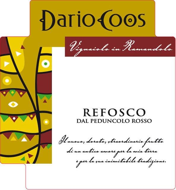 Dario Coos Refosco 2012 Front Label