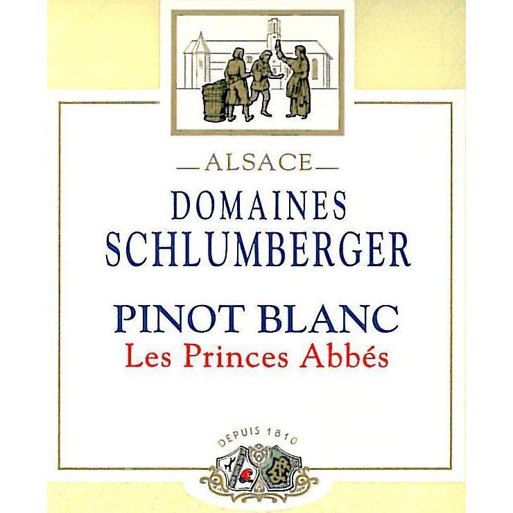 Domaines Schlumberger Les Princes Abbes Pinot Blanc 2015 Front Label