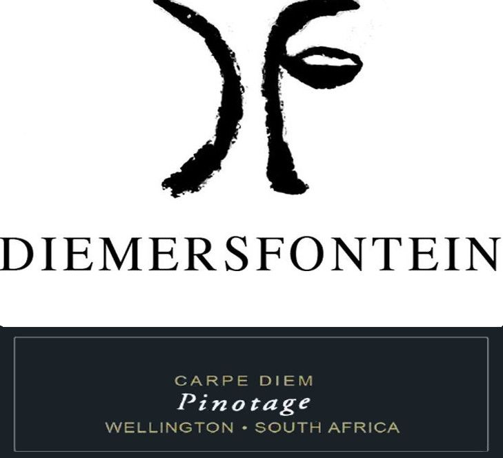 Diemersfontein Wine and Country Estate Carpe Diem Pinotage 2010 Front Label