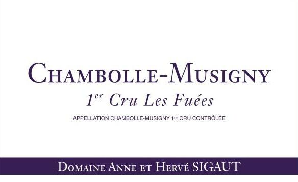 Domaine Anne et Herve Sigaut Chambolle-Musigny Les Fuees Premier Cru 2013 Front Label