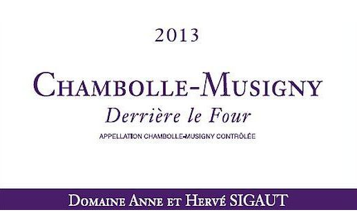 Domaine Anne et Herve Sigaut Chambolle-Musigny Derriere Le Four 2013 Front Label