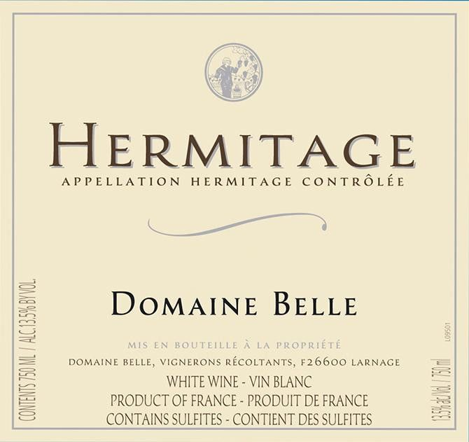 Domaine Belle Hermitage Blanc 2010 Front Label