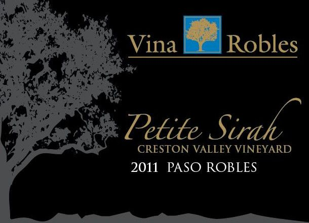 Vina Robles Creston Valley Vineyards Petite Sirah 2011 Front Label