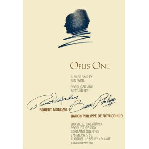 Opus One  1992 Front Label