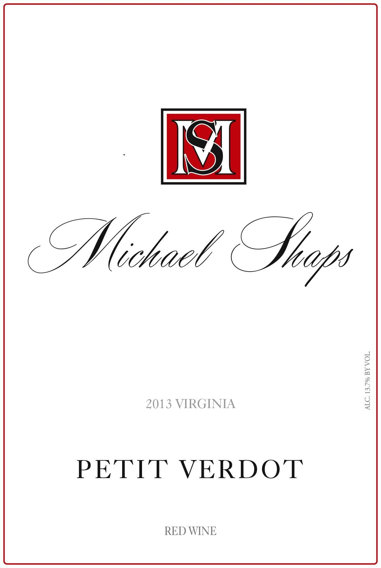 Michael Shaps Petit Verdot 2013 Front Label