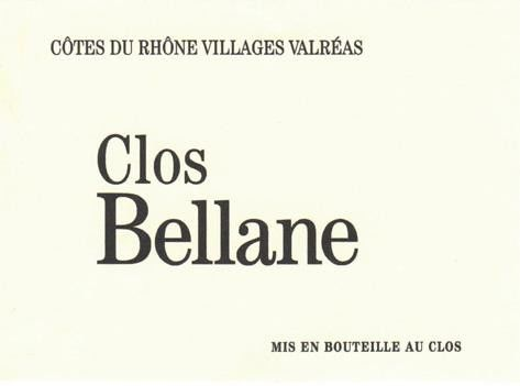 Clos Petite Bellane Cotes du Rhone Villages Valreas Blanc 2015 Front Label