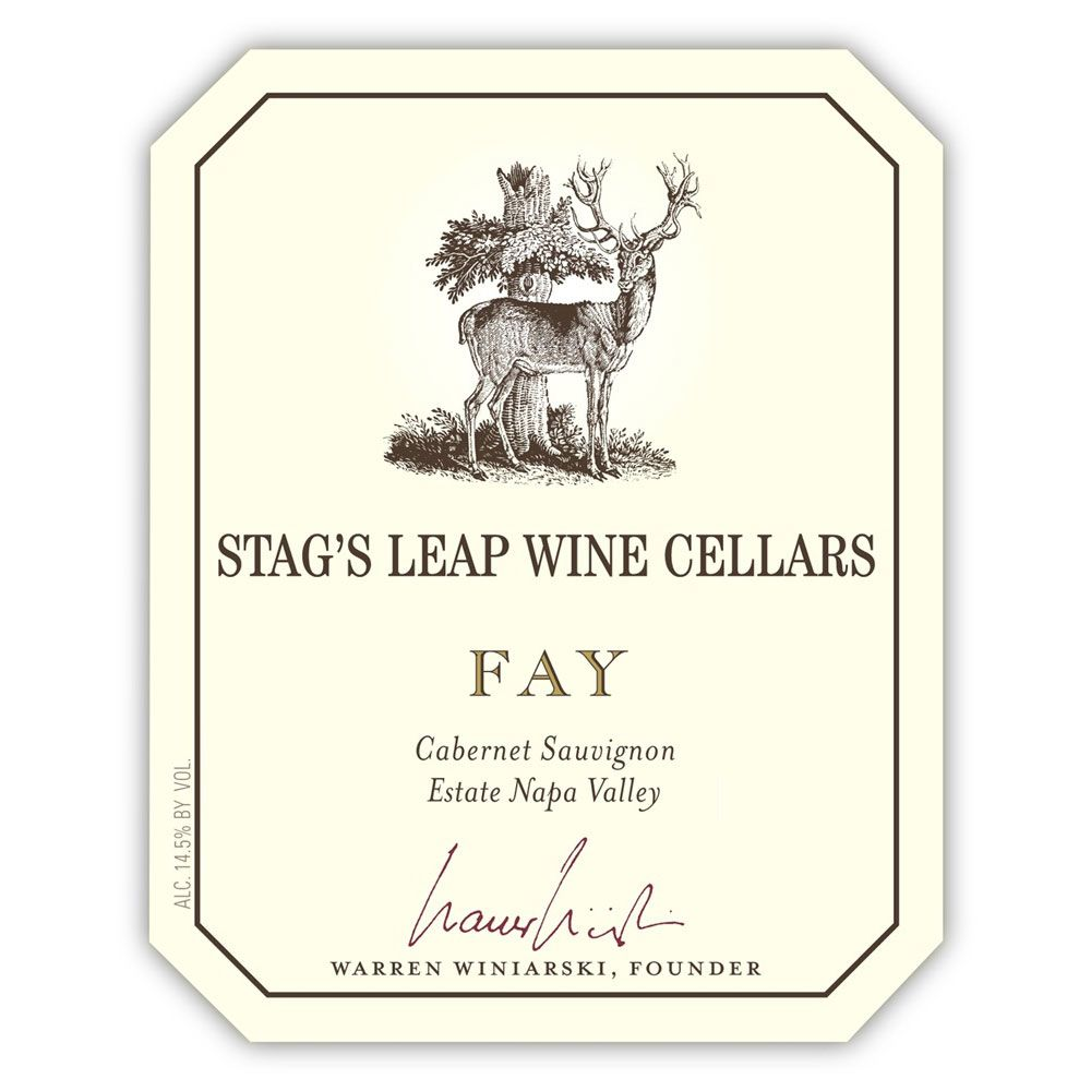 Stag's Leap Wine Cellars Fay Vineyard Cabernet Sauvignon (torn label) 1994 Front Label