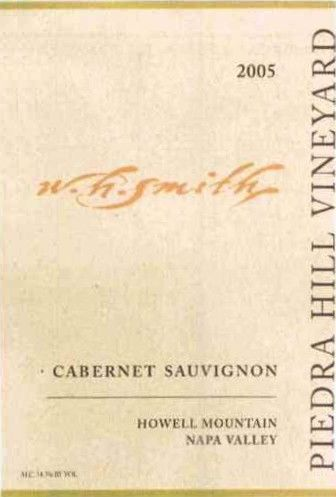 W.H. Smith Piedra Hill Vineyard Bronze Label Cabernet Sauvignon 2005 Front Label