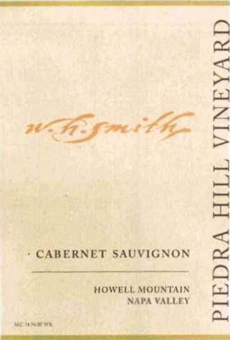 W.H. Smith Piedra Hill Vineyard Bronze Label Cabernet Sauvignon 2007 Front Label