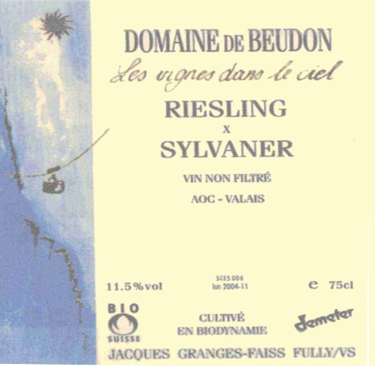 Domaine de Beudon Riesling Sylvaner 2004 Front Label