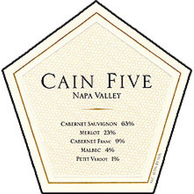 Cain Five 1994 Front Label