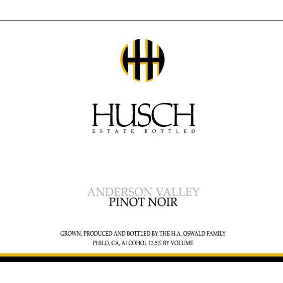 Husch Anderson Valley Pinot Noir 2015 Front Label