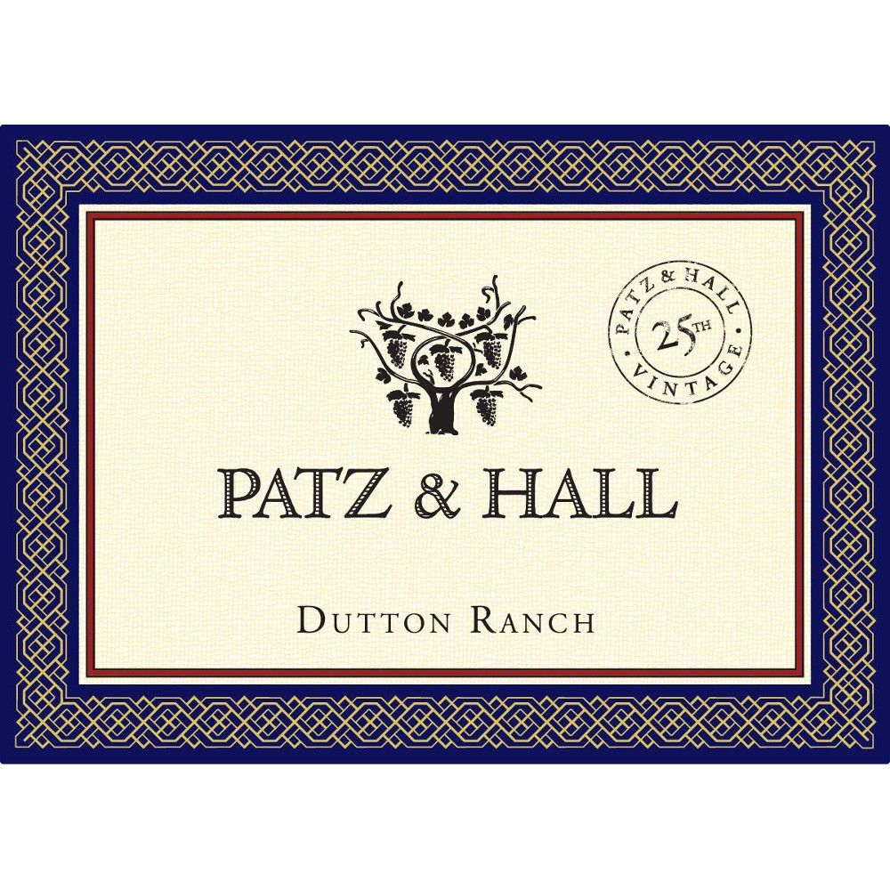 Patz & Hall Dutton Ranch Chardonnay (375ML half-bottle) 2015 Front Label