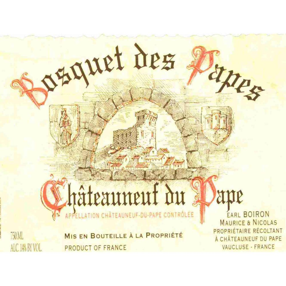 Bosquet des Papes Chateauneuf-du-Pape Tradition 2015 Front Label