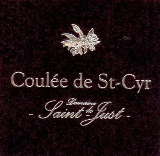 Domaine de Saint-Just Saumur La Coulee de St-Cyr Blanc 2007 Front Label