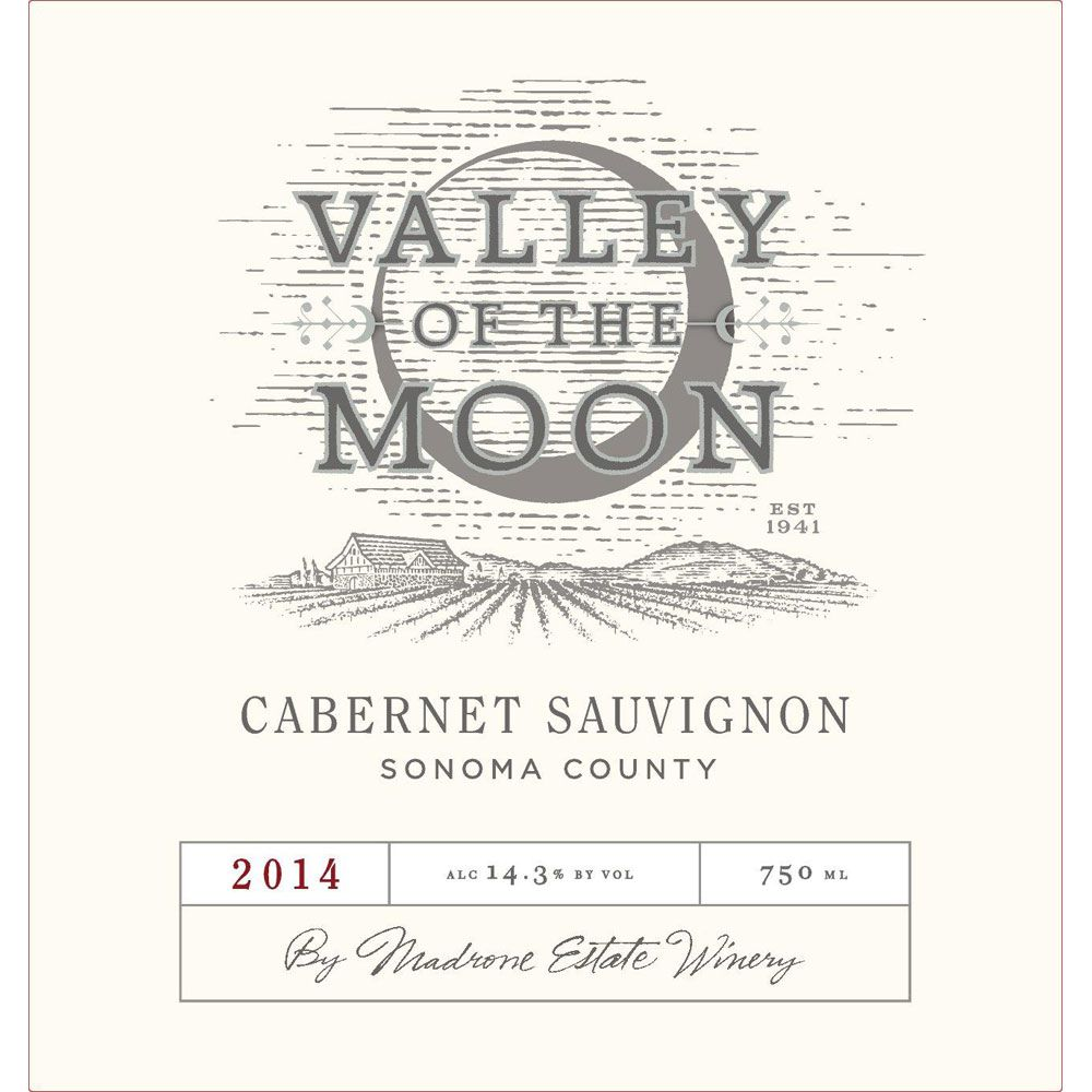 Valley of the Moon Cabernet Sauvignon 2014 Front Label