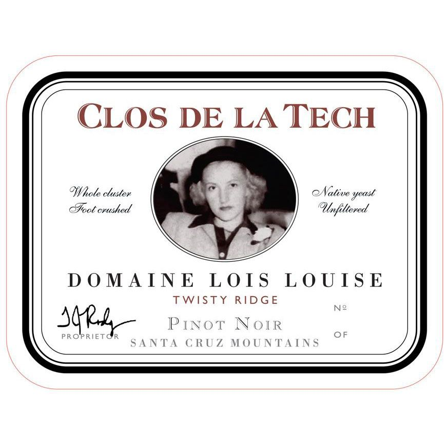 Clos de la Tech Domaine Lois Louise Twisty Ridge Pinot Noir 2010 Front Label