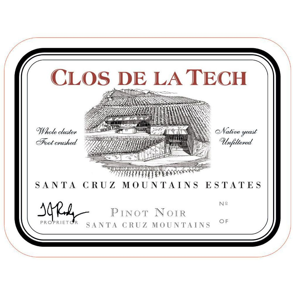 Clos de la Tech Santa Cruz Mountains Estates Pinot Noir 2010 Front Label