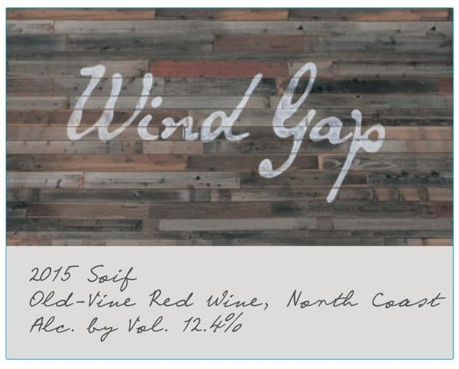 Wind Gap Soif Red Wine 2015 Front Label