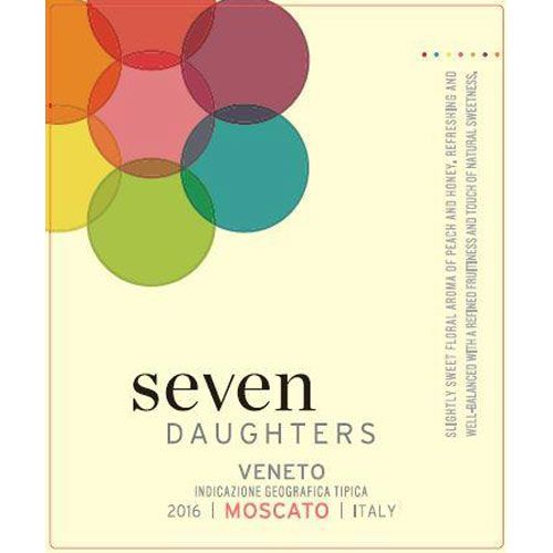Seven Daughters Moscato 2016 Front Label