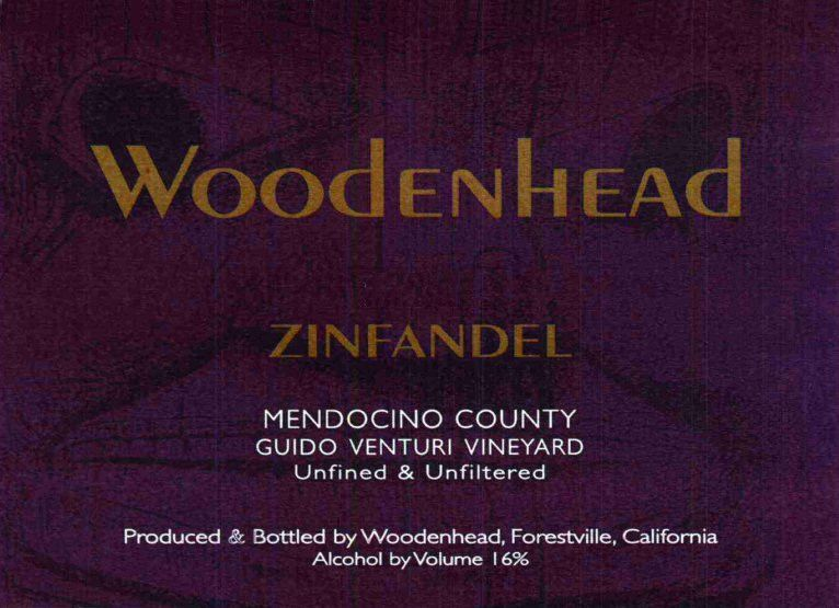 Woodenhead Guido Venturi Vineyard Zinfandel 2010 Front Label