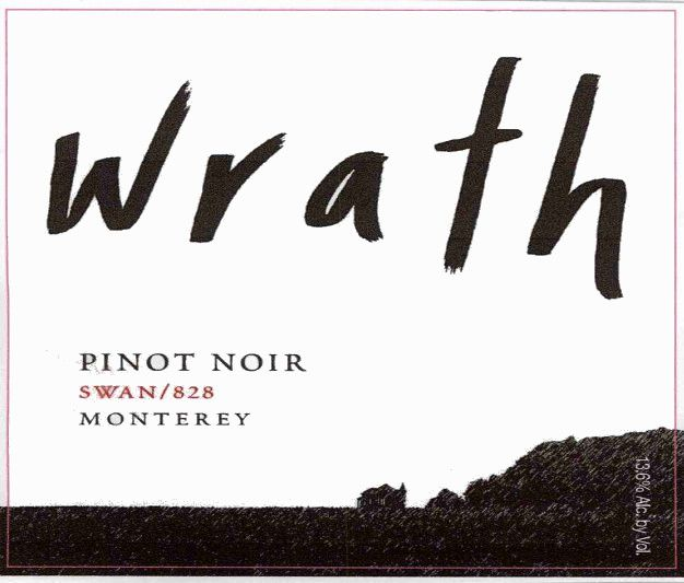 Wrath Swan 828 Pinot Noir 1982 Front Label