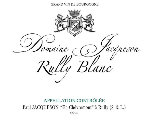 Domaine Jacqueson Rully Blanc 2007 Front Label