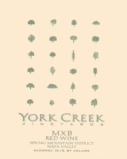 York Creek MXB Red 2005 Front Label